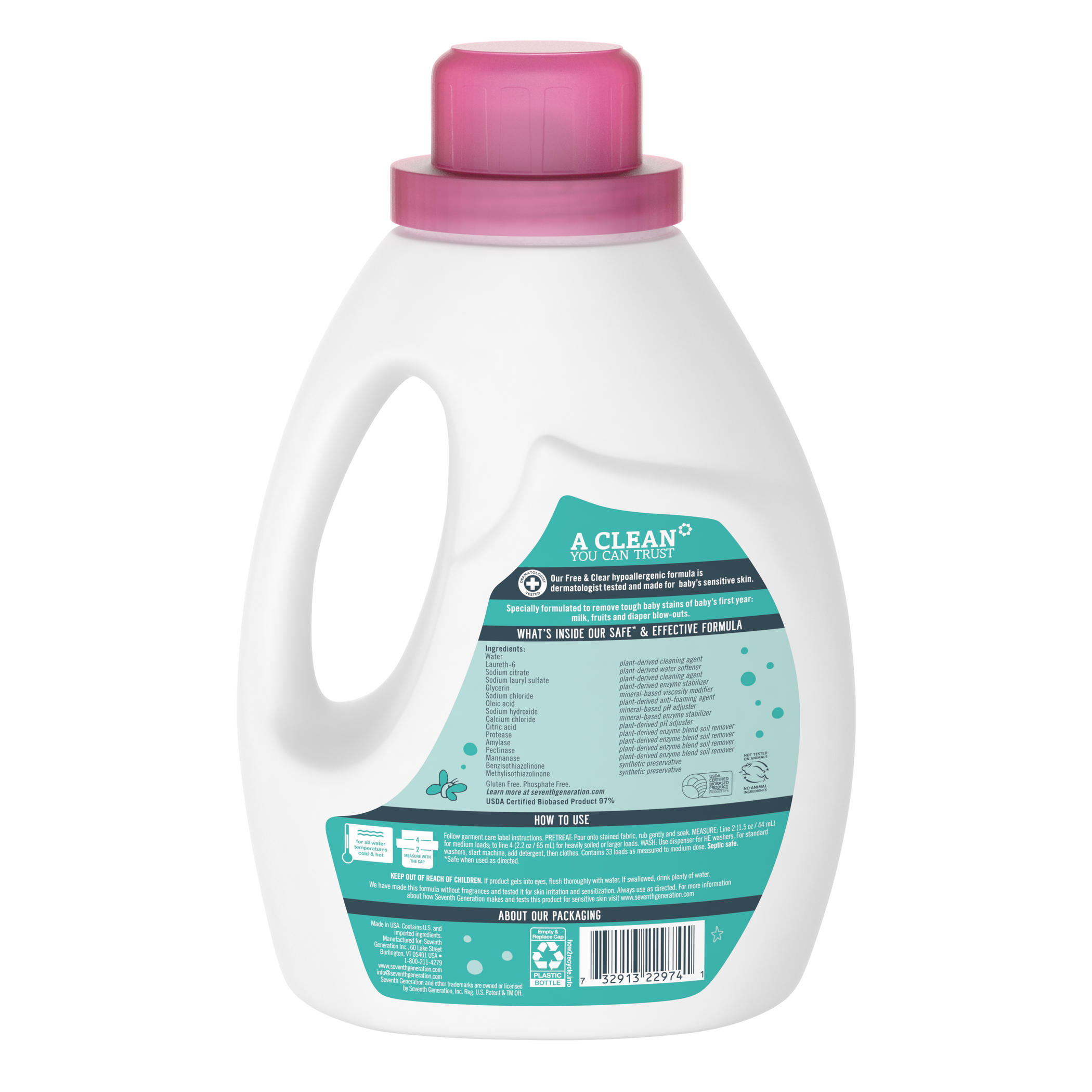 Baby Laundry Detergent For Sensitive Skin Free Amp Clear